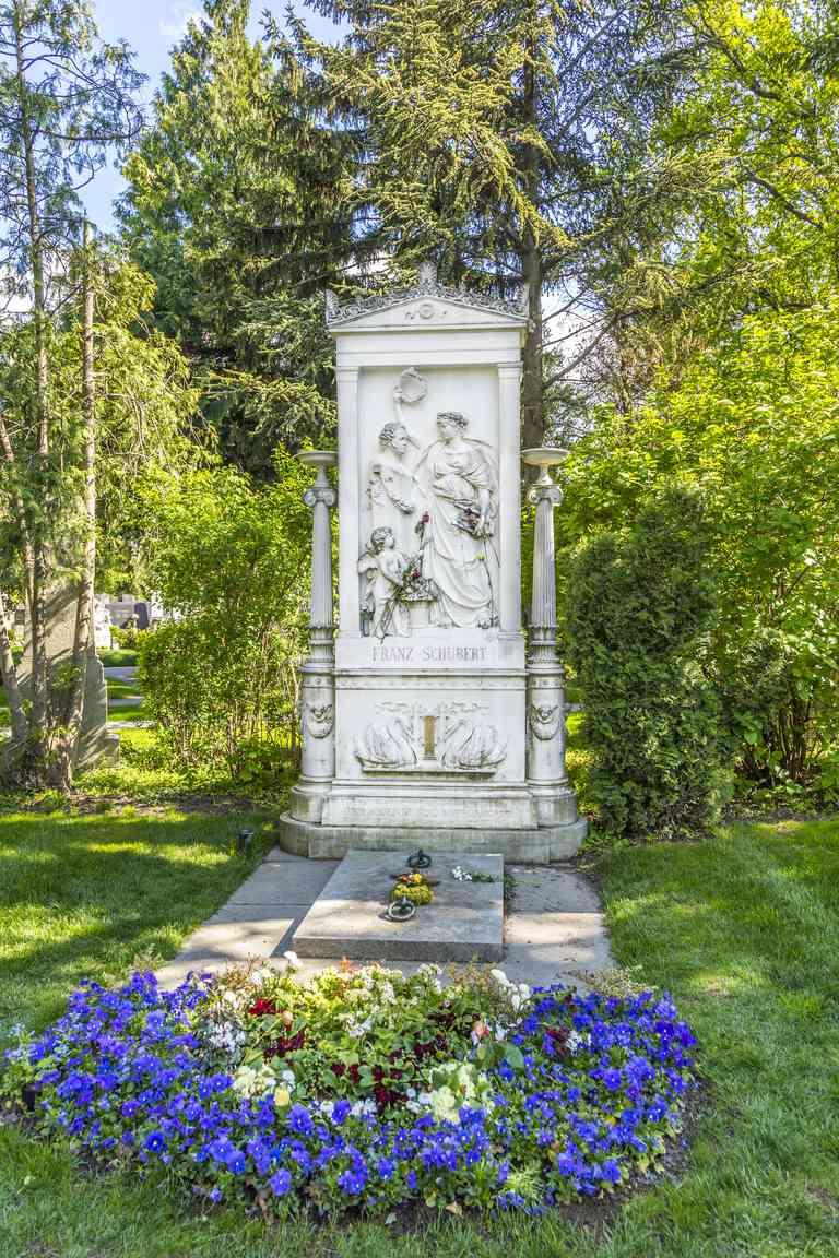 Franz Schubert Memorial in Zentralfriedhof, Vienna
