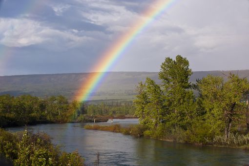 Rainbow in Glacier National Park, Montana