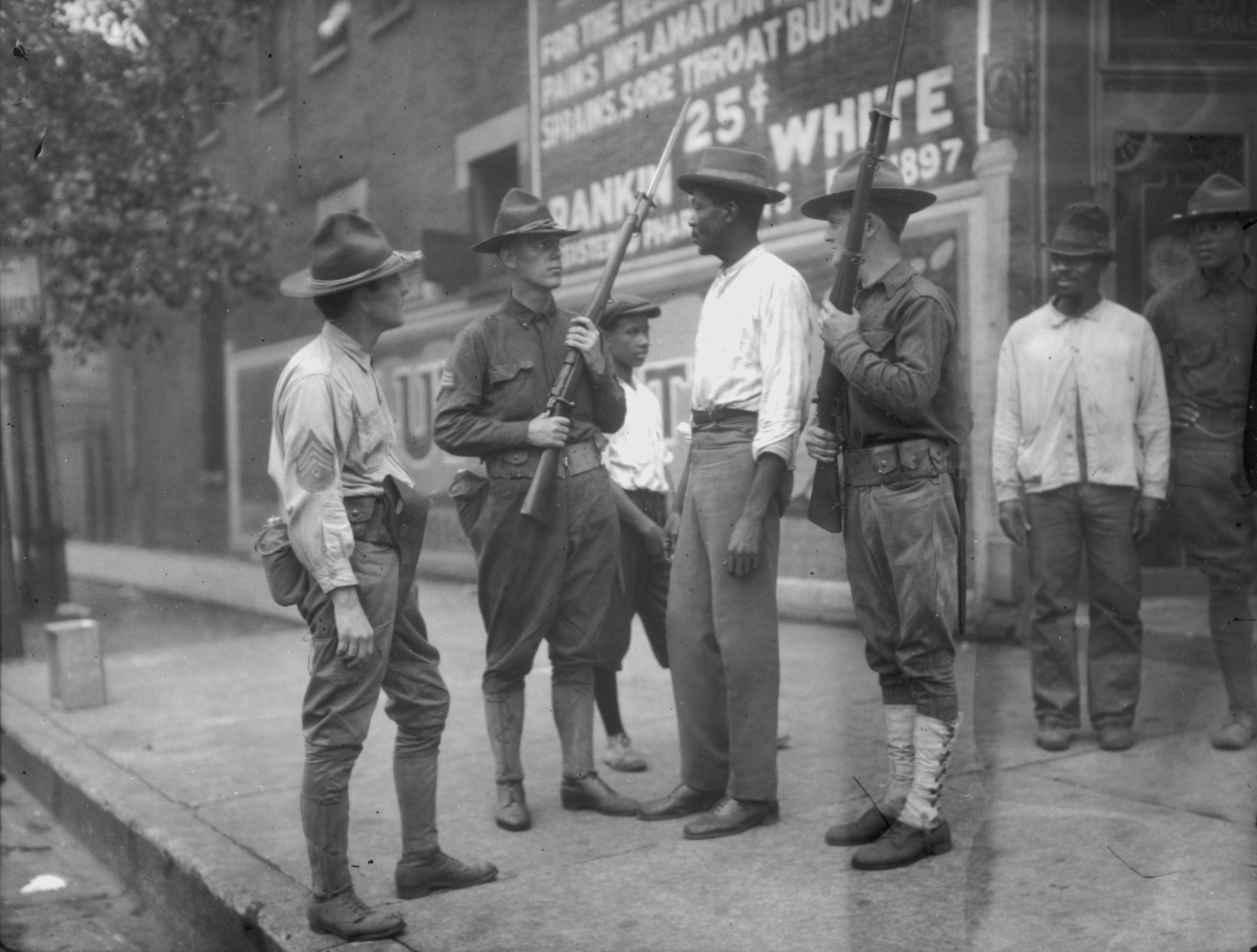 National Guardsmen During The Chicago Race Riots