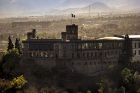 Castle of Chapultepec with Mexico City visible behind