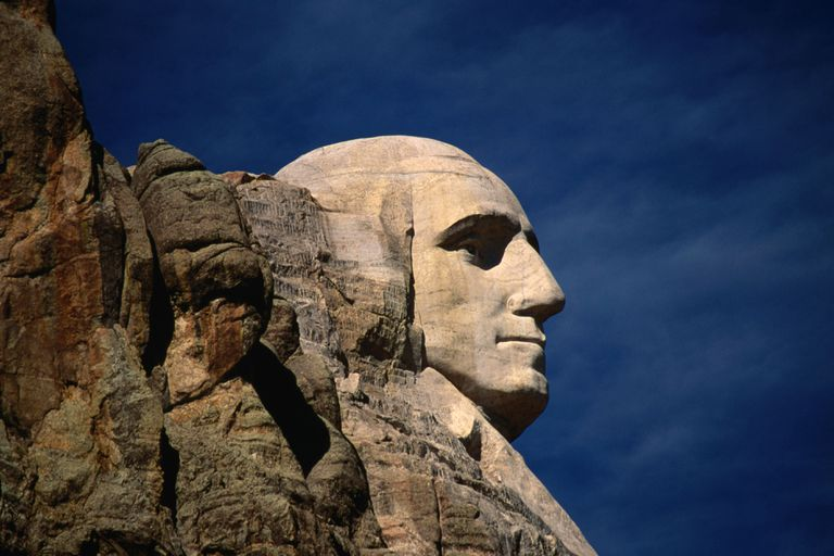 George Washington's face on Mt. Rushmore