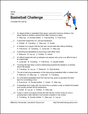 Basketball Wordsearch, Vocabulary, Crossword, and More