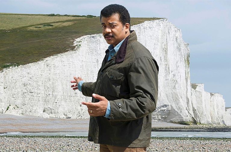 Neil deGrasse Tyson at the White Cliffs of Dover