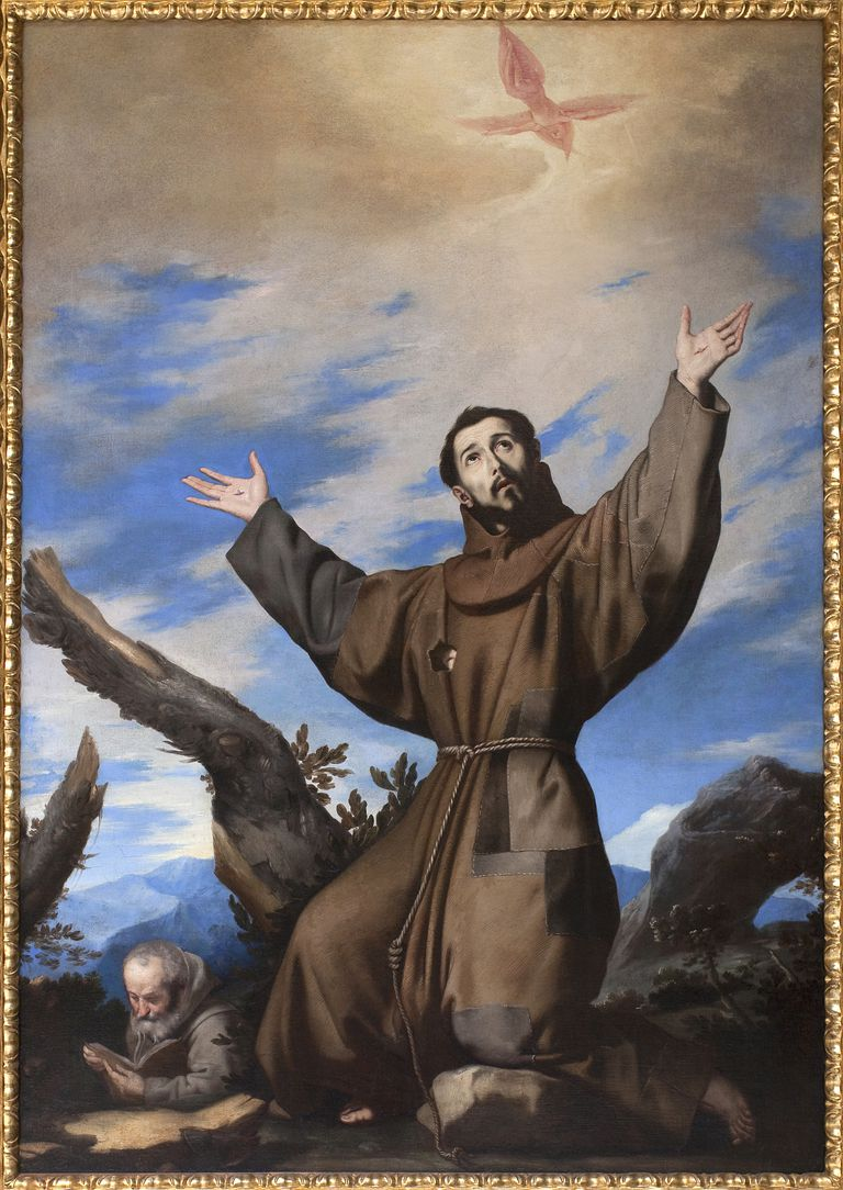 Saint Francis Of Assisi And His Sermon To Birds