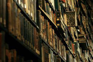 Full frame shot of books in a shelf