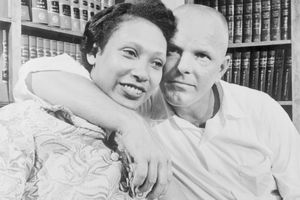 Richard and Mildred Loving in Washington, D.C.