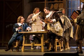 A 2017 production of Cyrano de Bergerac in New York
