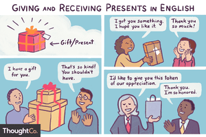 Giving and receiving presents in English