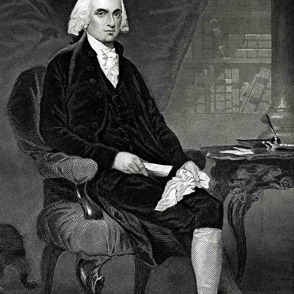James Madison full length portrait