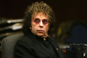Phil Spector in a court room