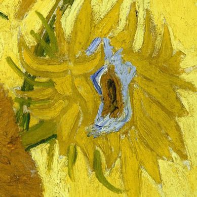 Detail from Van Gogh sunflower painting