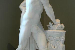 Mucius Scaevola, by Louis-Pierre Deseine (French, 1749-1822).