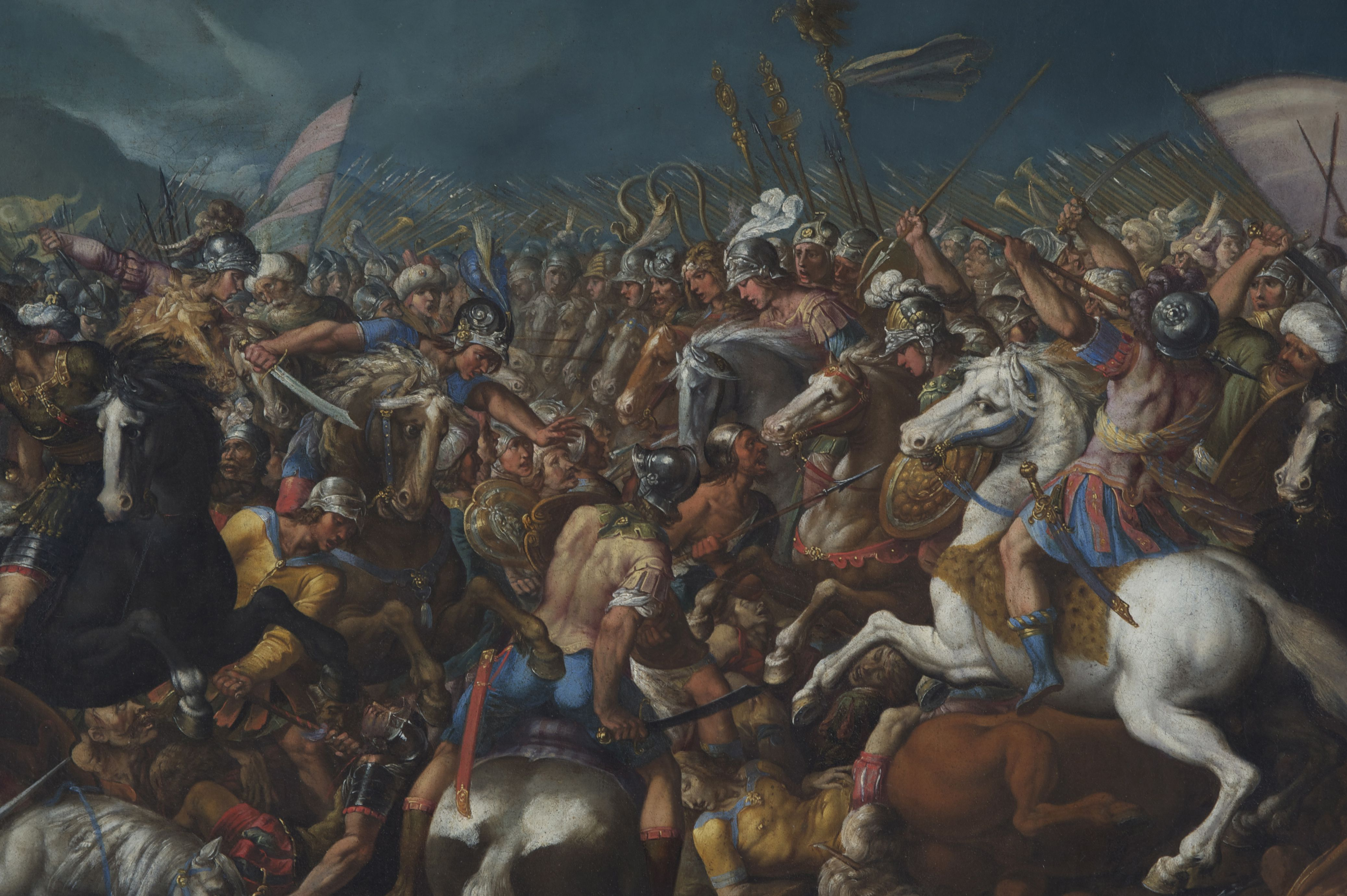 The Fight between Scipio Africanus and Hannibal, c. 1616-1618. Artist: Cesari, Bernardino (1565-1621)
