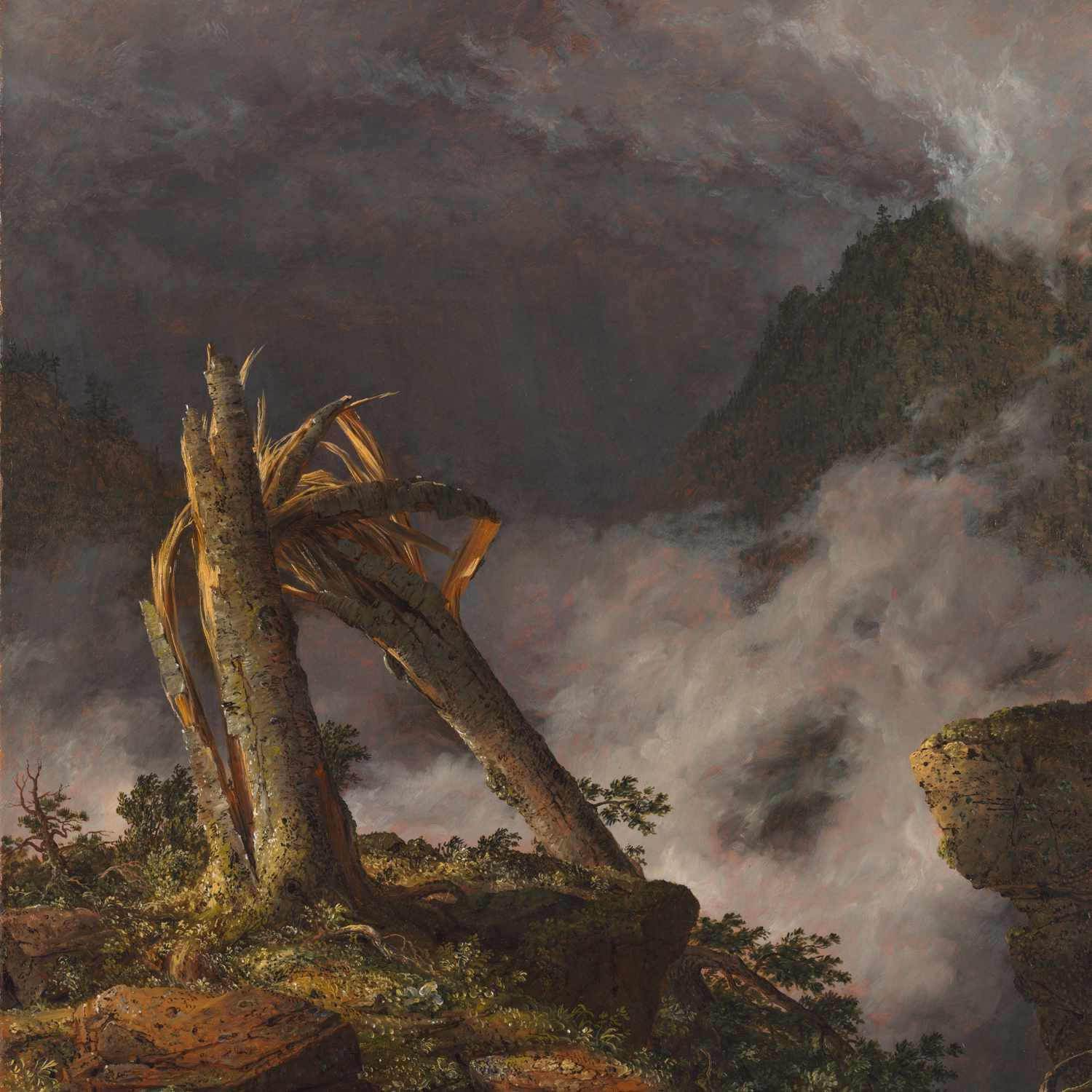 frederic edwin church storm in the mountains
