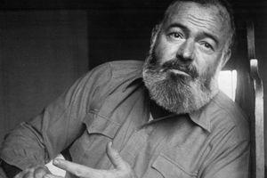 Writer Ernest Hemingway
