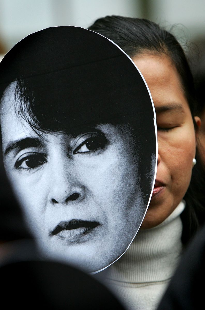 Aung San Suu Kyi Protest 2007