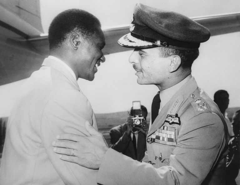 King Hussein and Ahmed Sekou Toure