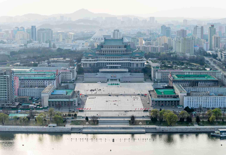 Cityscape of Pyongyang, North Korea