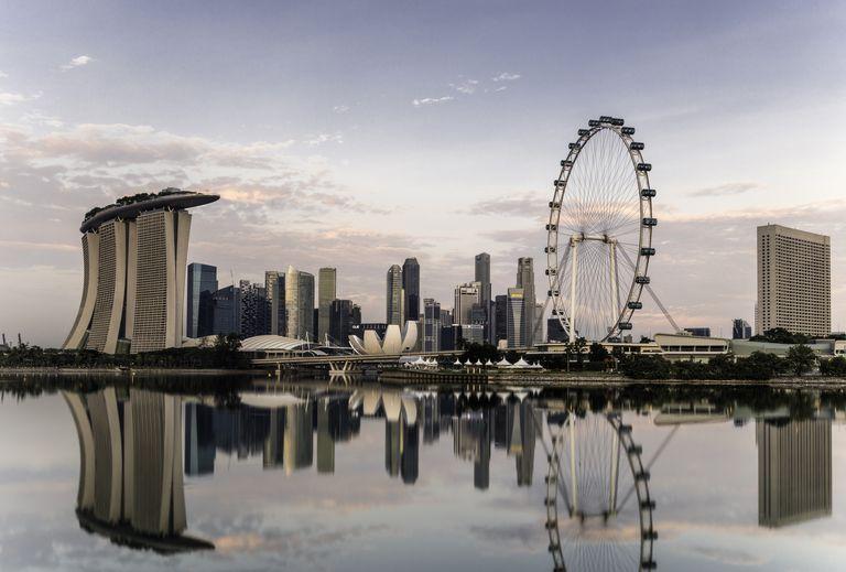 Singapore skyline at dawn