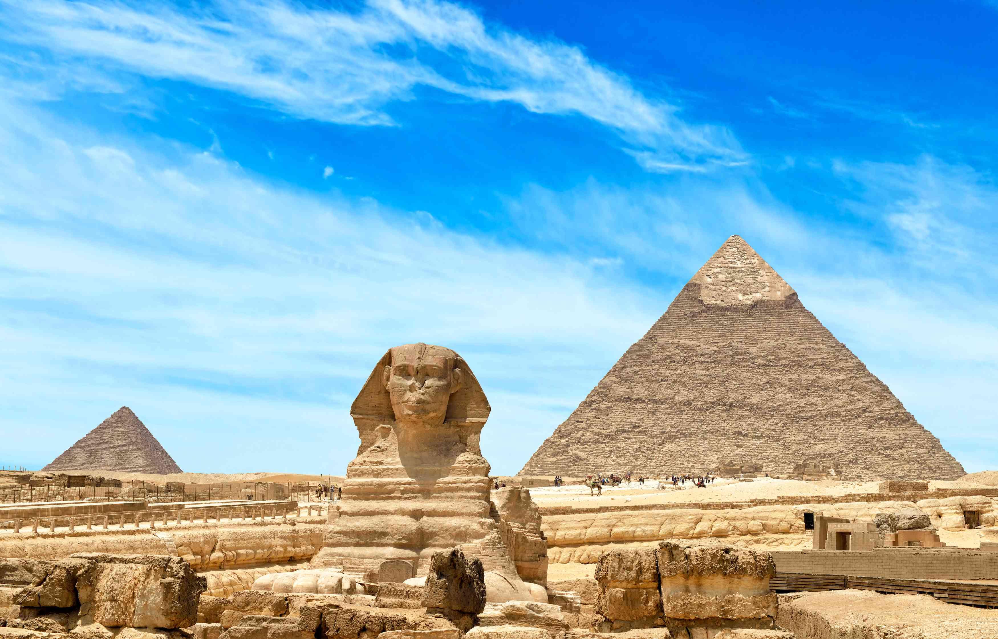 Pyramiden und Sphinx von Gizeh in Kairo, Ägypten