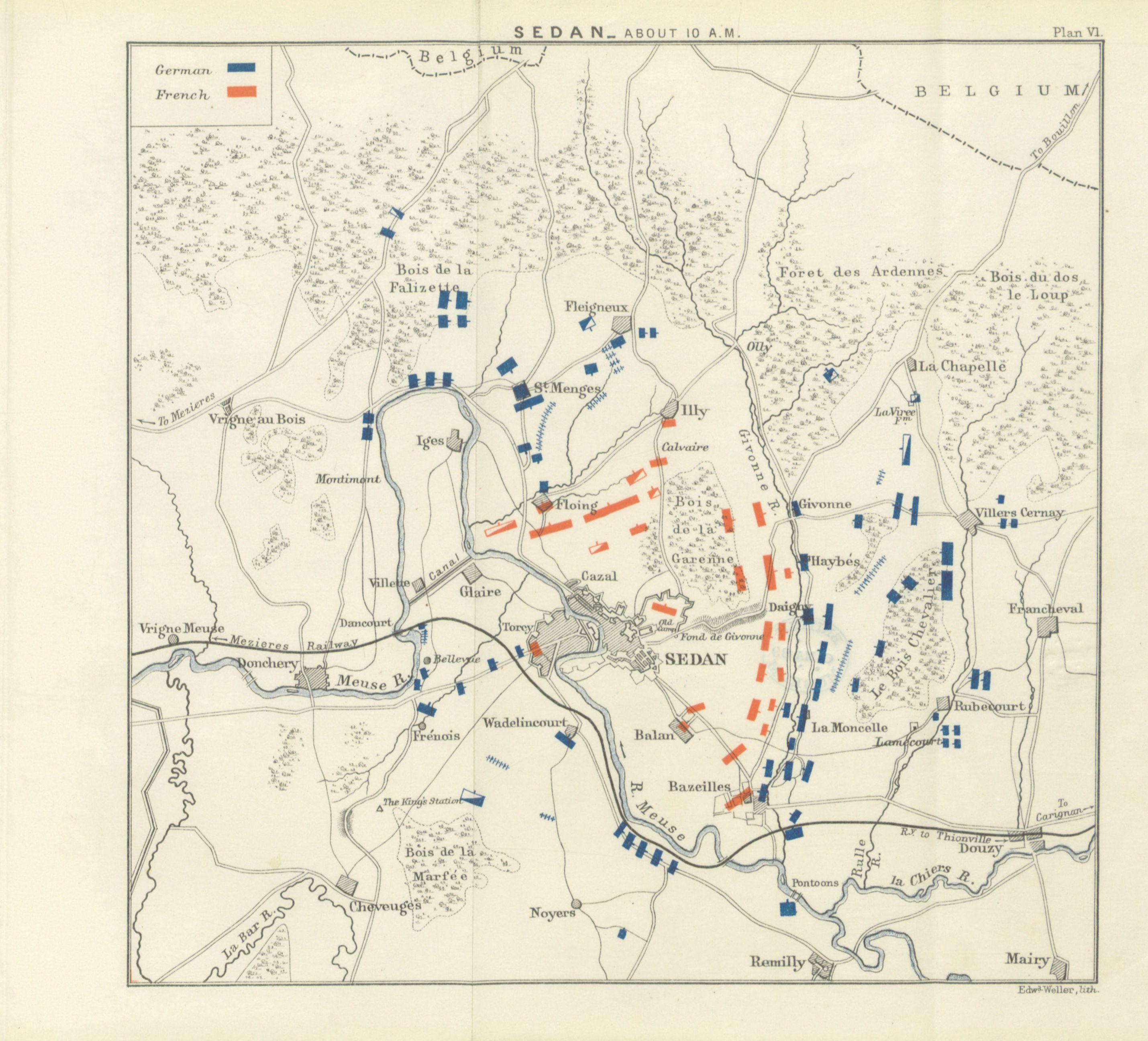 Battle of Sedan map