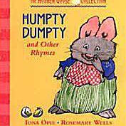 Arte de portada para el libro de cartón Humpty Dumpty y otras rimas
