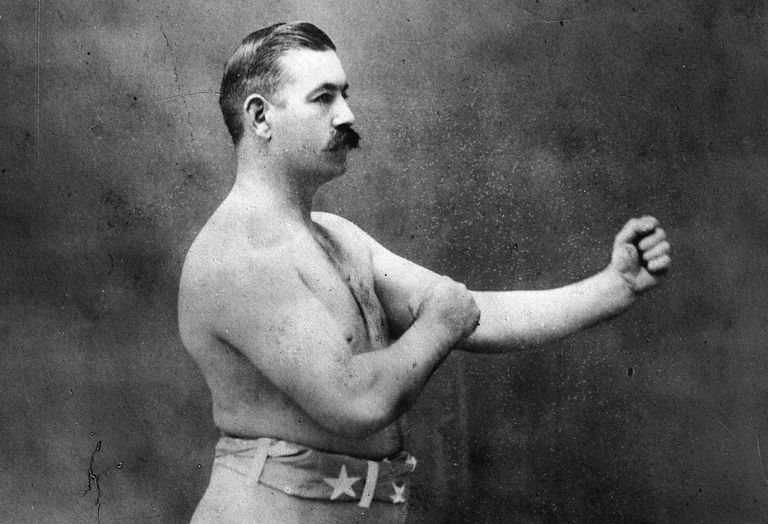 Photographic portrait of boxer John L. Sullivan