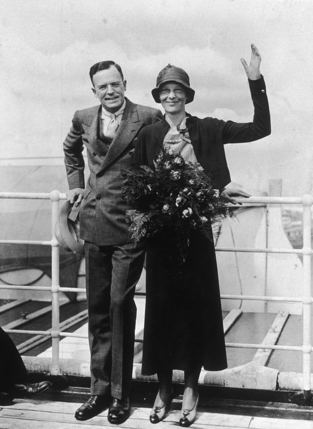 Amelia Earhart and George Palmer Putnam