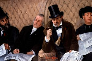 In the Railway Carriage by Pierre Carrier-Belleuse - Is this the pinnacle of civilization?