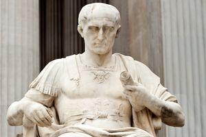 Statue of Julius Caesar From The Vienna, Austria Parliament