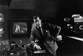 Photograph of broadcaster Edward R. Murrow