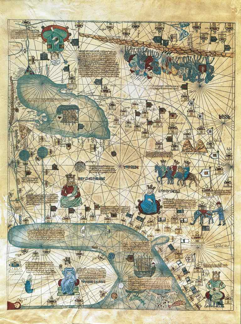 Illustrated Map of Cathay, from Catalan Atlas