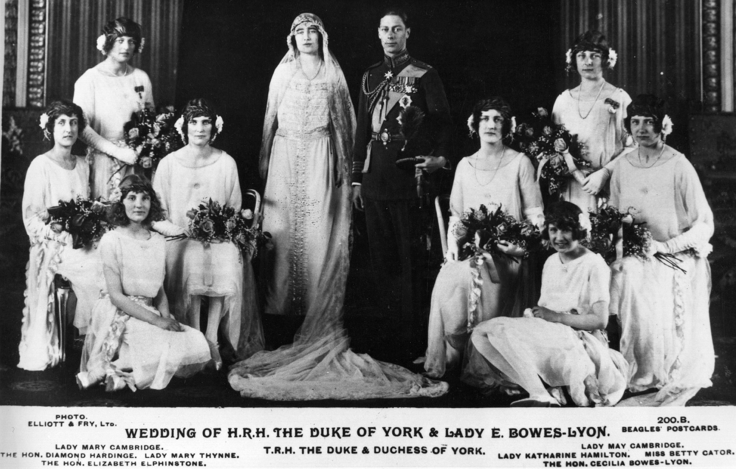 ヨーク公爵とエリザベス・ボウズ・リヨン夫人、1923年。