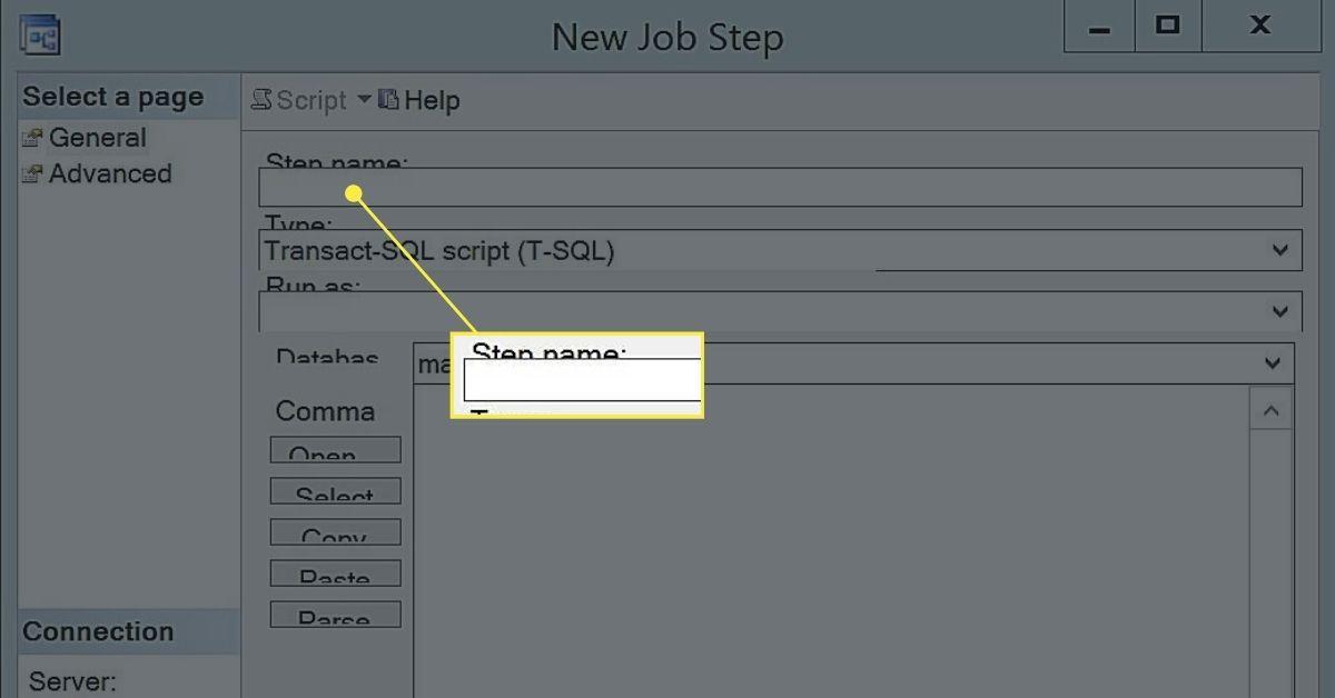Creating a New Job Step