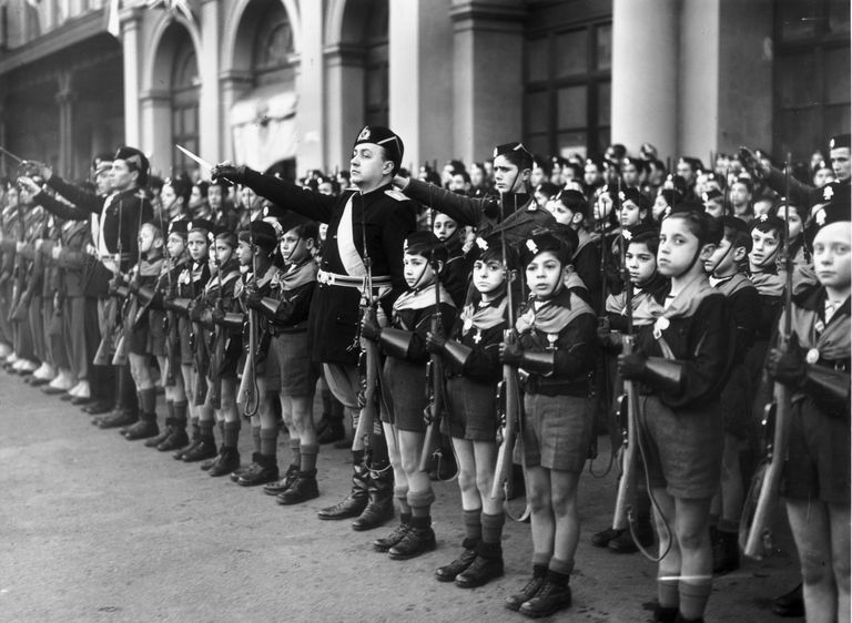 Members of the Italian youth fascist organisation, the Balilla.
