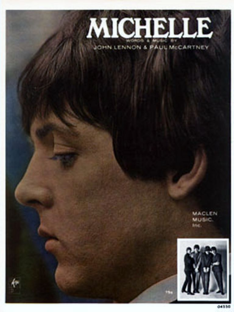 The Beatles sheet music for the song Michelle