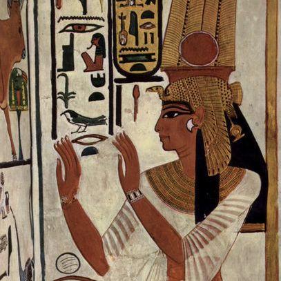 Wallpainting of Queen Nefertari, c. 1298-1235 B.C.