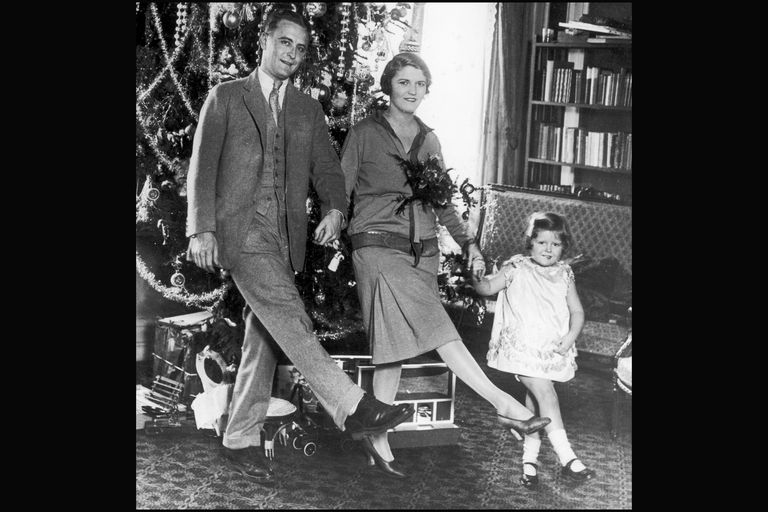 Festive Fitzgeralds: F. Scott, Zelda and Frances (Scottie), 1925, Paris