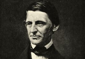 Head and shoulders of Ralph Waldo Emerson