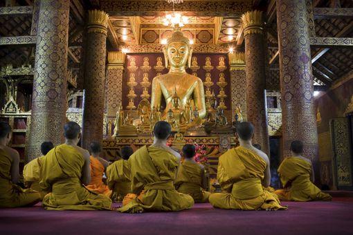 Buddists in prayer