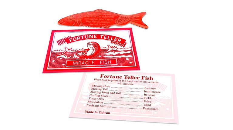 Fortune Teller Magic Fish on a white background.