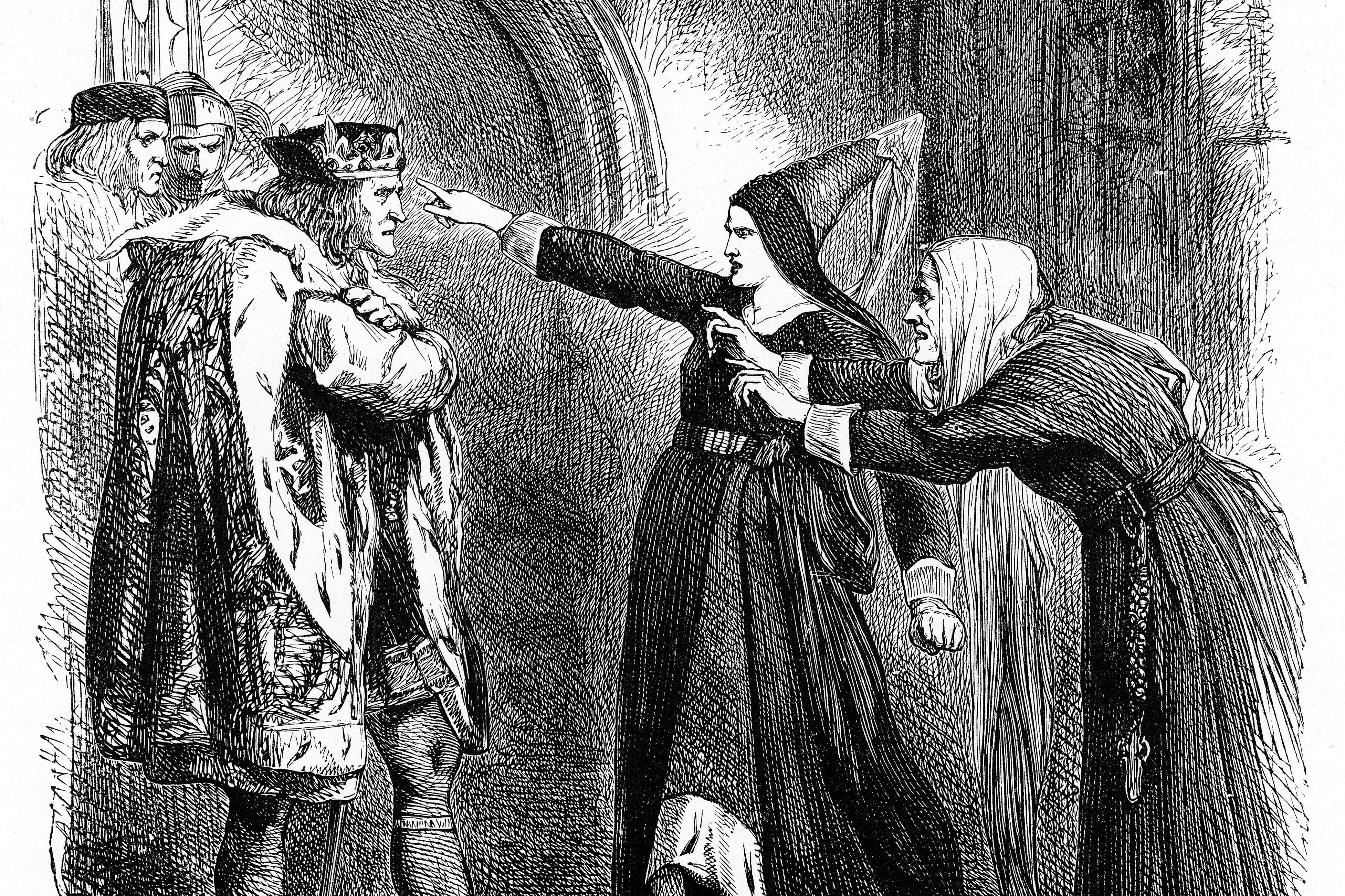 Shakespeare Scene: Richard III confronted by Elizabeth Woodville and Cecily Neville