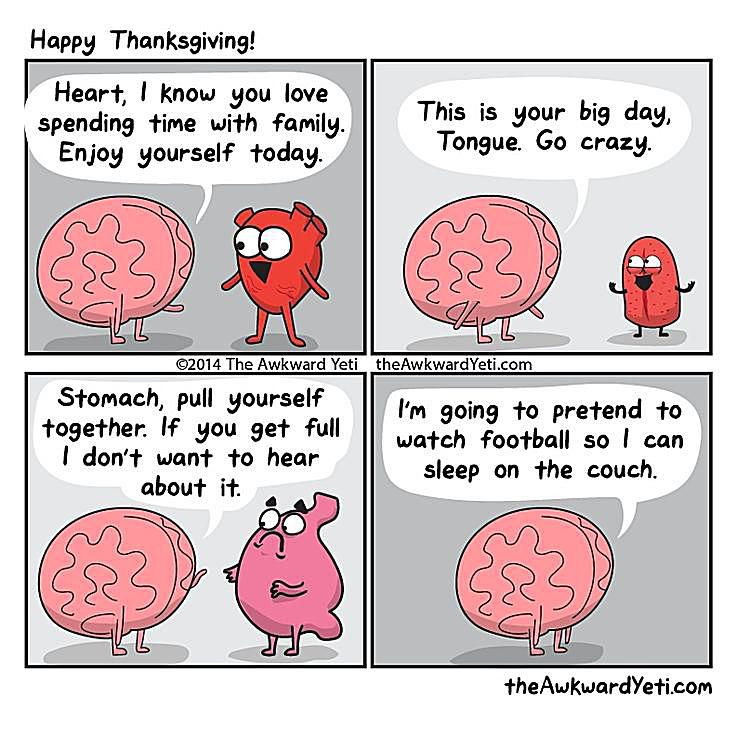 20 Funny Turkey Day Pictures, Cartoons, and Memes