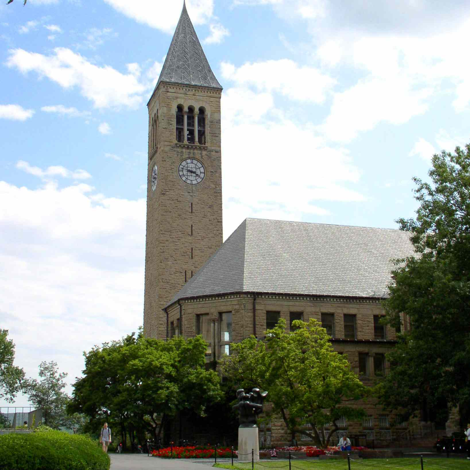 Cornell University McGraw Tower and Uris Library