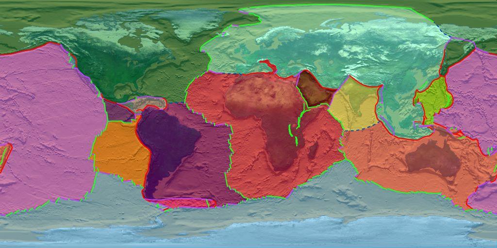 mapes de plaques i oceans