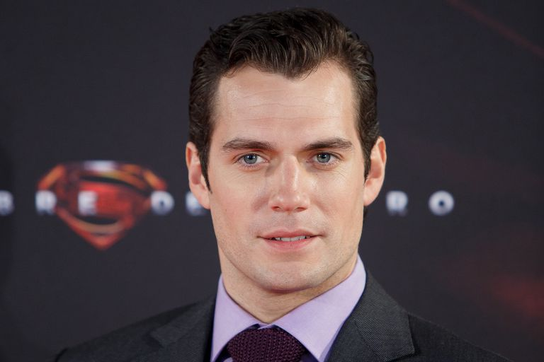 Henry Cavill posing for 'Man of Steel' Madrid Premiere