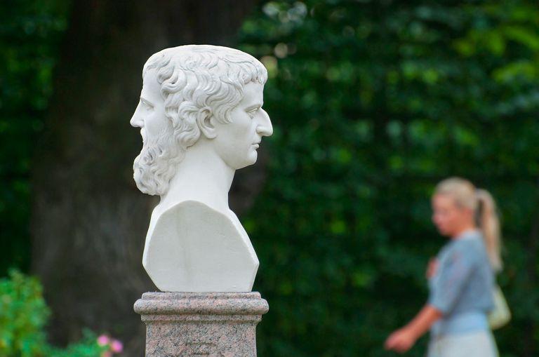 Janus bust in Saint-Petersburg. Russia