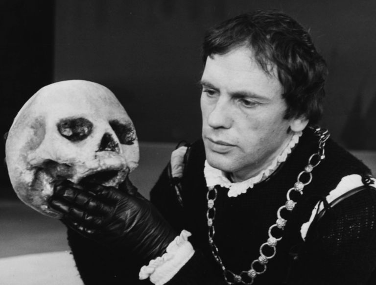 Jean-Louis Trintignant in Shakespeare's 'Hamlet', Paris, circa 1959.