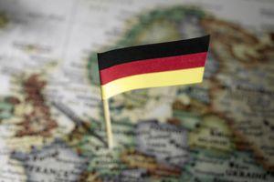 German flag in map