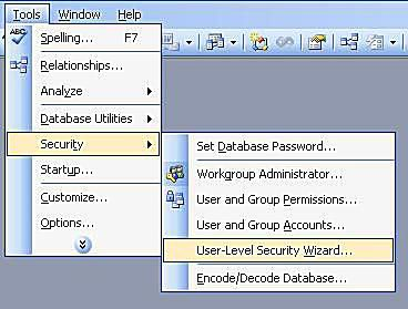 Microsoft Access User-Level Security Tutorial